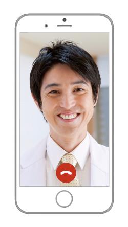 オンラインヘルスケア支援アプリホスピタルリンクのビデオ通話機能