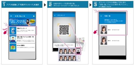 c72f7495d4c8e 「Ki-Re-i」で撮影後、アプリ「Ki-Re-i ID Photo」上で、証明写真にプリントされたQRコードの読み取りとダウンロードパスワード(数字8桁)の入力を行うだけで、利用者  ...